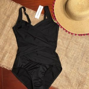 Miraclesuit Black One Piece, size 8